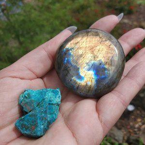 Other - Labradorite Flashing Stone & Chrysocolla Set 2